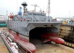SWATH Ship in Drydock