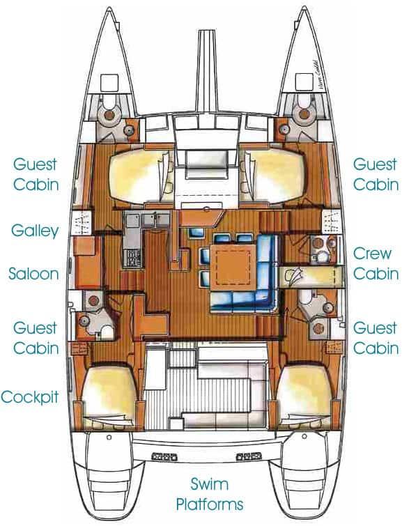 Catamaran Blue Water Cruiser